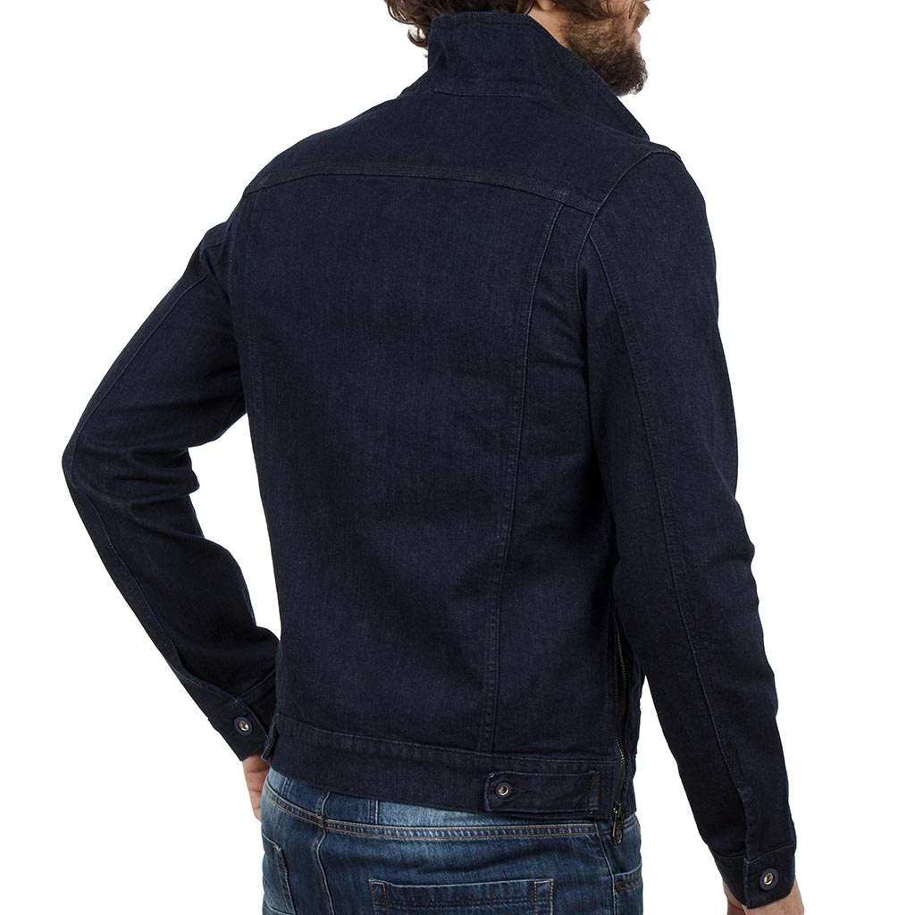 Μπουφάν Jean Jacket COVER JACKET D0045 σκούρο Μπλε  c0129d3cc24