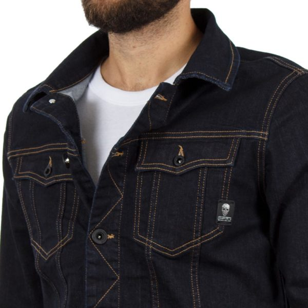 Μπουφάν Jean Jacket COVER JACKET F0143 Blueblack