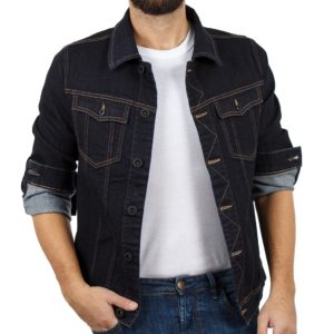 Μπουφάν Jean Jacket COVER JACKET F0143 Blueblack