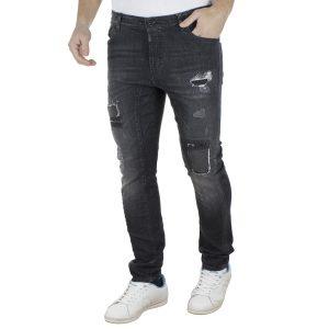 Τζιν Παντελόνι Loose Skinny COVER BIKER K43341 Μαύρο