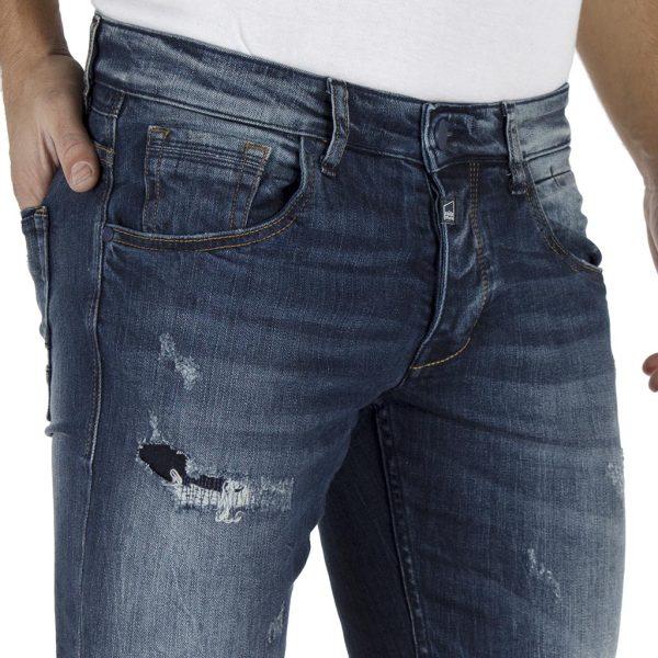 Τζιν Παντελόνι Super Slim Fit COVER TEDDY E3479 Μπλε
