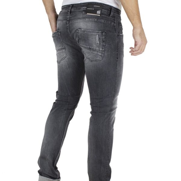 Τζιν Παντελόνι Super Slim Fit COVER TEDDY K2479 Μαύρο