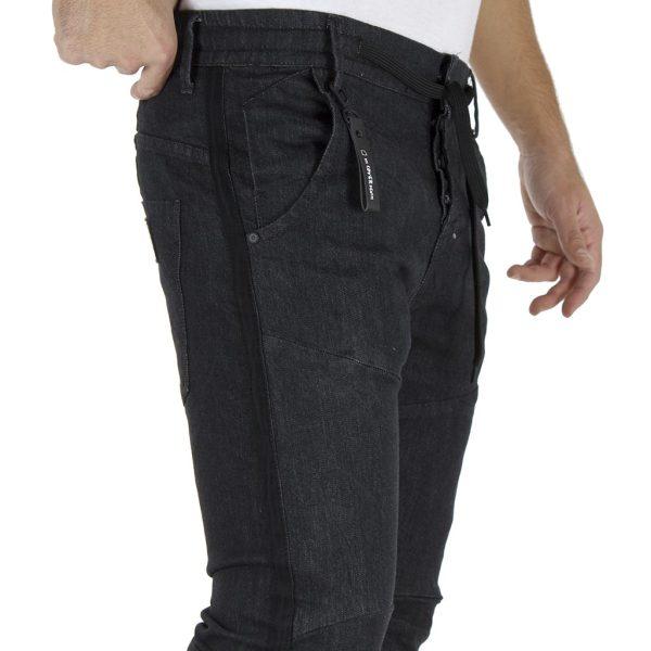 Τζιν Παντελόνι Chinos Loose με Λάστιχα κάτω COVER TODD K0038 Μαύρο