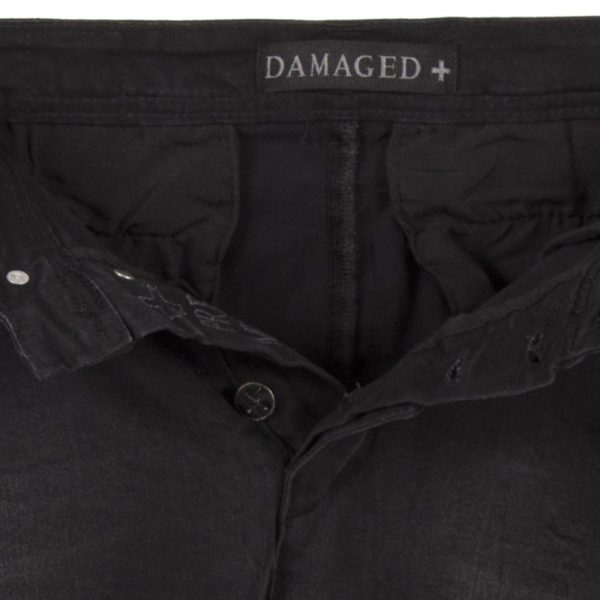 Jean Παντελόνι με Λάστιχα Cargo Chinos DAMAGED jeans Army D37D Μαύρο