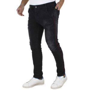 Jean Παντελόνι Chinos DAMAGED jeans slim D50B Μαύρο