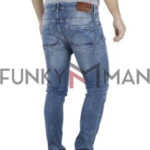Τζιν Παντελόνι Slim Fit REDSPOT BONO L Μπλε