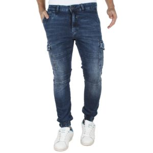 Jean Cargo Chinos Παντελόνι με Λάστιχα REDSPOT PILOT CRPJ Μπλε