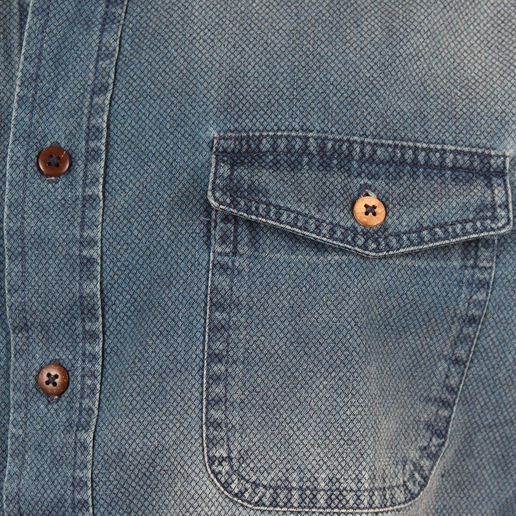Τζιν Μακρυμάνικο Πουκάμισο Regular Fit DOUBLE DS-8 Stone Blue. ΠΟΥΚΑΜΙΣΑ  ΜΑΚΡΥΜΑΝΙΚΑ ff020e79f06