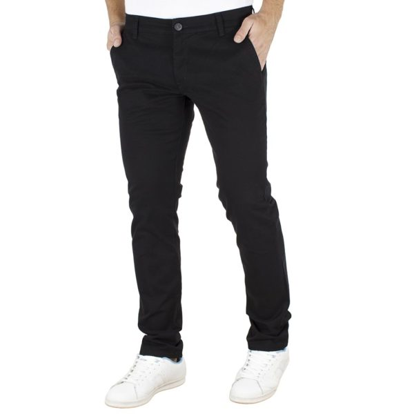 Παντελόνι Casual Chinos COVER CHIBO T0085 Μαύρο