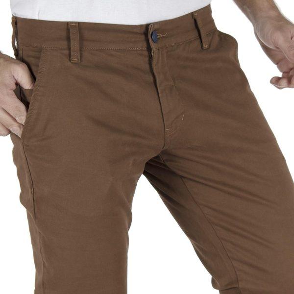 Παντελόνι Casual Chinos COVER CHIBO T0085 Καφέ
