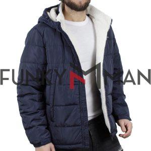 Φουσκωτό Μπουφάν Puffer Jacket BLEND 20707203 Navy