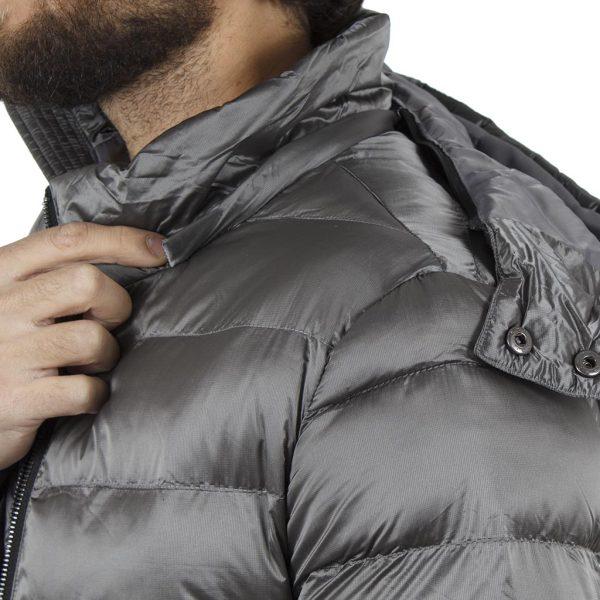 Φουσκωτό Μπουφάν Puffer Jacket SPLENDID 40-201-069 Silver σκούρο Γκρι
