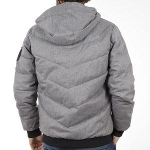 Φουσκωτό Μπουφάν Puffer Jacket SPLENDID 40-201-084 ανοιχτό Γκρι