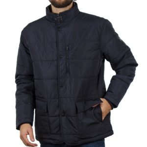 Φουσκωτό Μπουφάν Puffer-Padded Jacket DOUBLE MJK-114 Navy