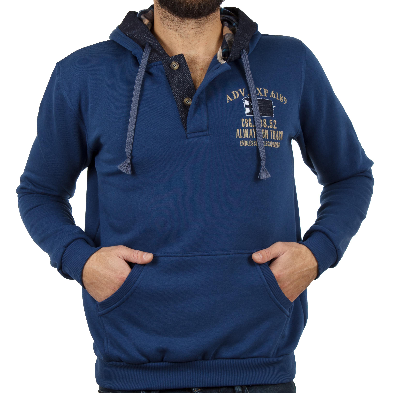 993a90c54bd Μπλούζα Φούτερ με Κουκούλα Hoodie START CARAG 88-280-19N Μπλε ρουά ...