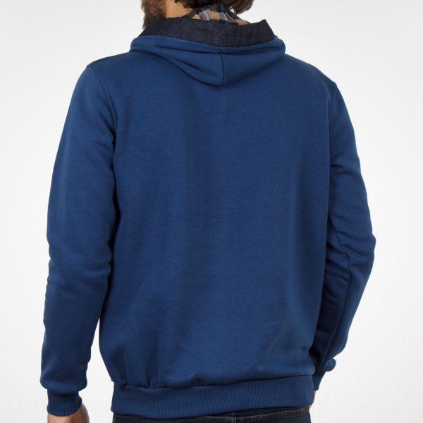 Μπλούζα Φούτερ με Κουκούλα Hoodie START CARAG 88-280-19N Μπλε ρουά