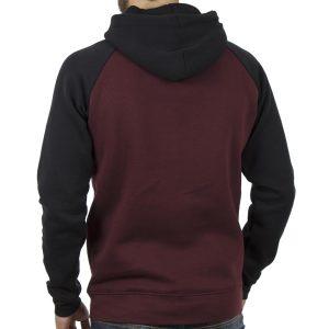 Μπλούζα Φούτερ με Κουκούλα HOODIE DOUBLE MTOP-31 Βουργουνδί