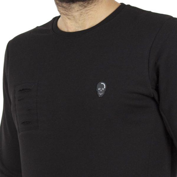 Μπλούζα Φούτερ COVER NOVA Z311 Μαύρο