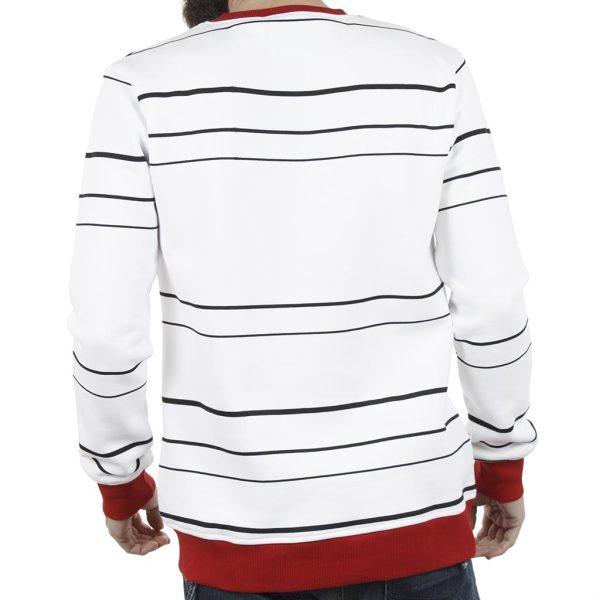 Μπλούζα Φούτερ PONTEROSSO 18-2057 STRIPES Ριγέ Κόκκινο