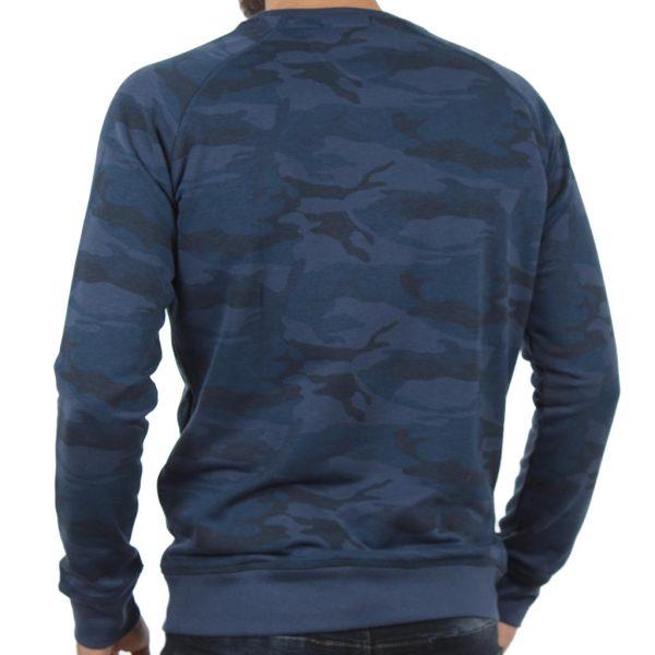 Μπλούζα Φούτερ Terry Fleece DOUBLE MTOP-35 Μπλε παραλλαγής