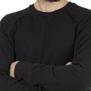 Μακριά Μπλούζα Φούτερ EMANUEL NAVARO 006 Μαύρο