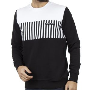 Μπλούζα Φούτερ PONTE ROSSO STRIPES 18-2042 Μαύρο