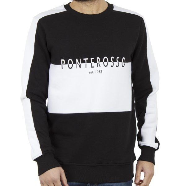 Μπλούζα Φούτερ PONTEROSSO 18-2053 B&W Μαύρο