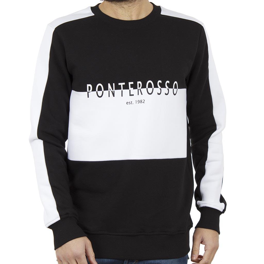 Μπλούζα Φούτερ PONTEROSSO 18-2053 B W Μαύρο  706e75af722