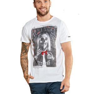 Κοντομάνικη Μπλούζα T-Shirt DEELUXE74 IGGY W18117WHI Λευκό