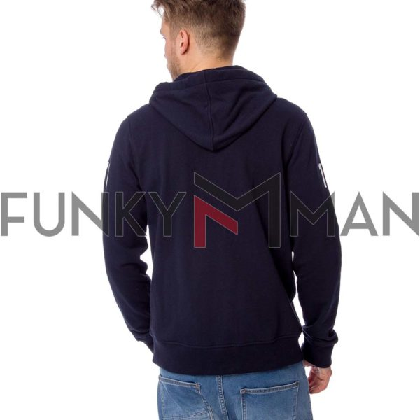 Ζακέτα Φούτερ με Κουκούλα Small French Terry HOODIE HEAVY TOOLS SHRIMP Navy