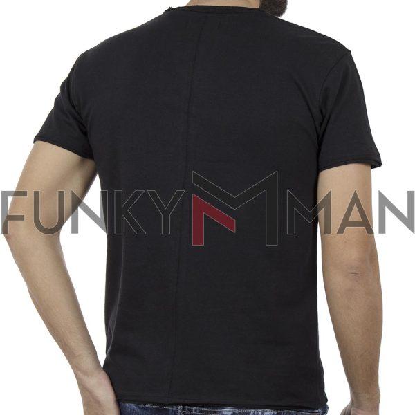 Κοντομάνικο Μπλούζακι T-Shirt DOUBLE TS-80 Μαύρο