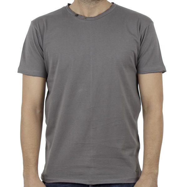 Κοντομάνικο Μπλούζακι T-Shirt DOUBLE TS-80 Γκρι