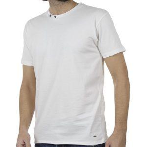 Κοντομάνικο Μπλούζακι T-Shirt DOUBLE TS-80 Λευκό