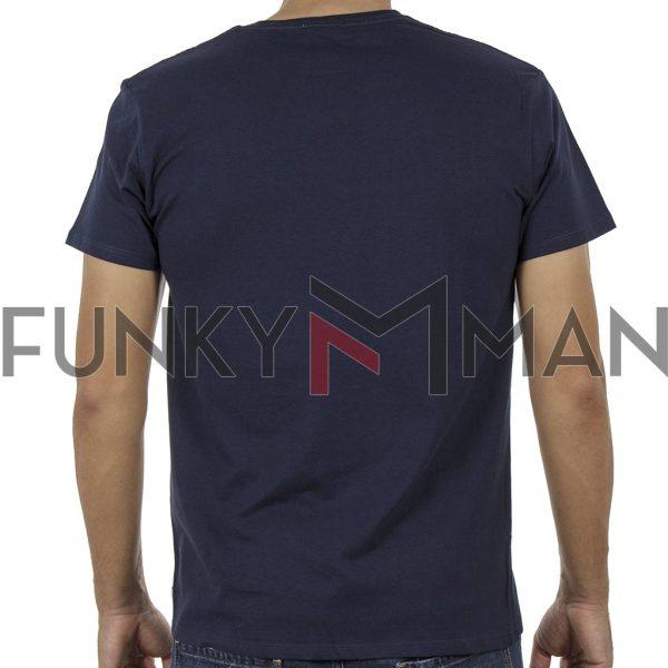 Κοντομάνικο Μπλούζακι Crew Neck T-Shirt DOUBLE TS-92 Navy