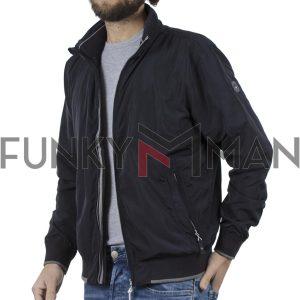 Ελαφρύ Μπουφάν Semi Short Jacket DOUBLE MJK-125 Blueblack