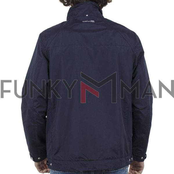 Ελαφρύ Μπουφάν Semi Long Jacket DOUBLE MJK-126 Navy