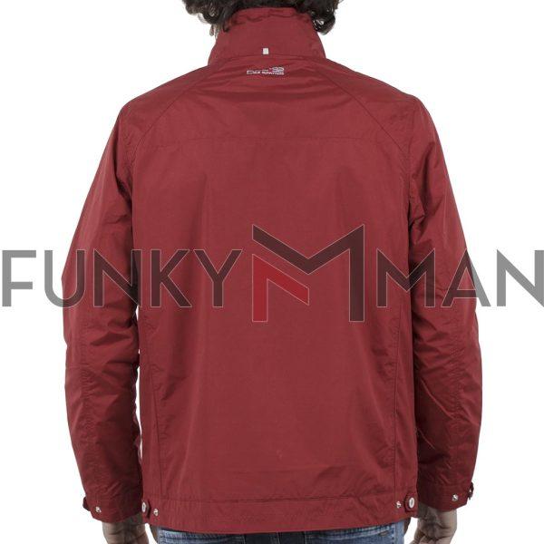 Ελαφρύ Μπουφάν Semi Long Jacket DOUBLE MJK-126 Κόκκινο