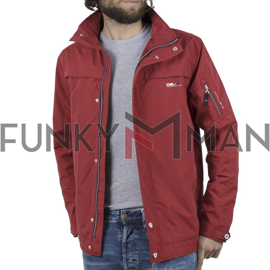 ae1f1013205f Ελαφρύ Μπουφάν Semi Long Jacket DOUBLE MJK-126 Κόκκινο