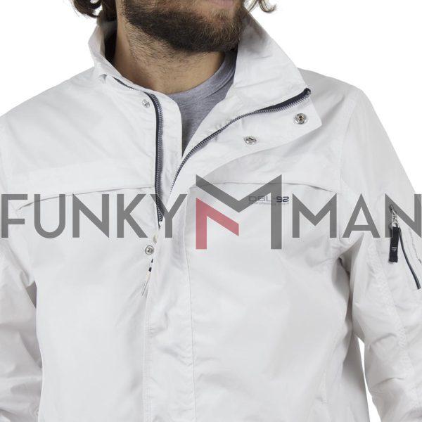 Ελαφρύ Μπουφάν Semi Long Jacket DOUBLE MJK-126 Λευκό