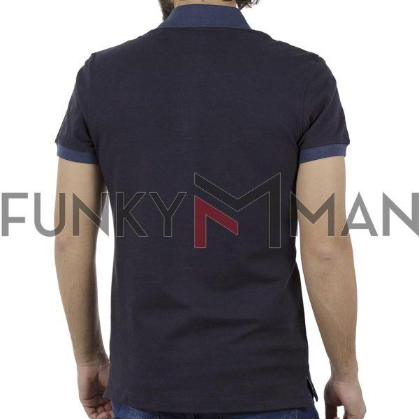 Κοντομάνικη Μπλούζα POLO BLEND 20707436 Navy