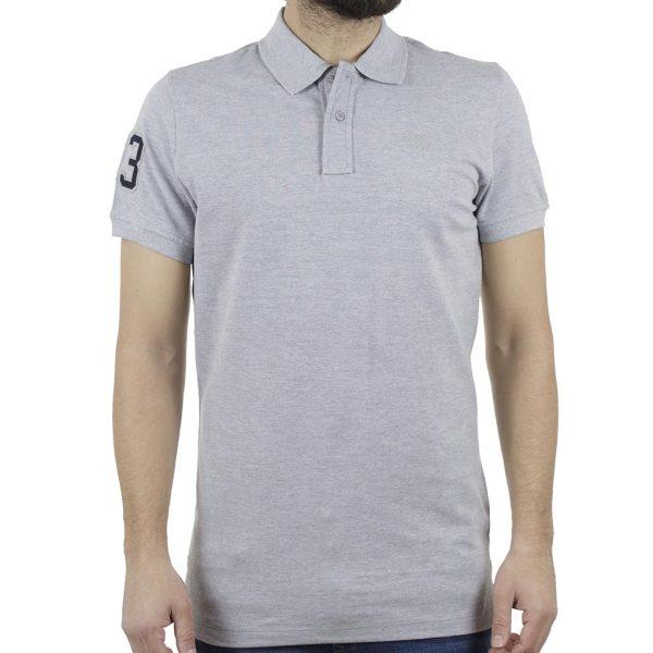 Κοντομάνικη Μπλούζα POLO BLEND 20707456 ανοιχτό Γκρι