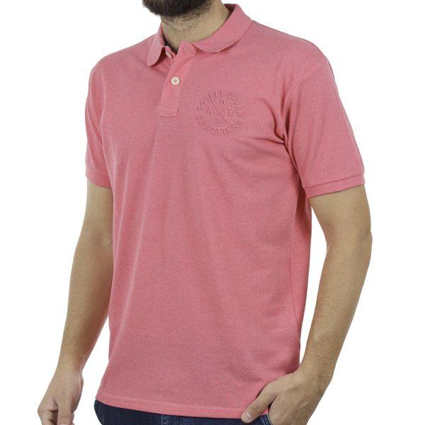 Κοντομάνικο Μπλούζακι με Γιακά Polo DOUBLE PS-219S Ροζ