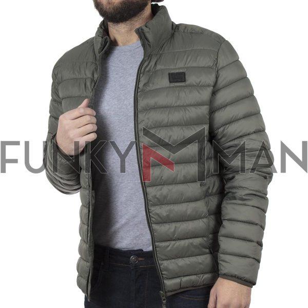 Φουσκωτό Μπουφάν Puffer Jacket BLEND 20707520 Χακί
