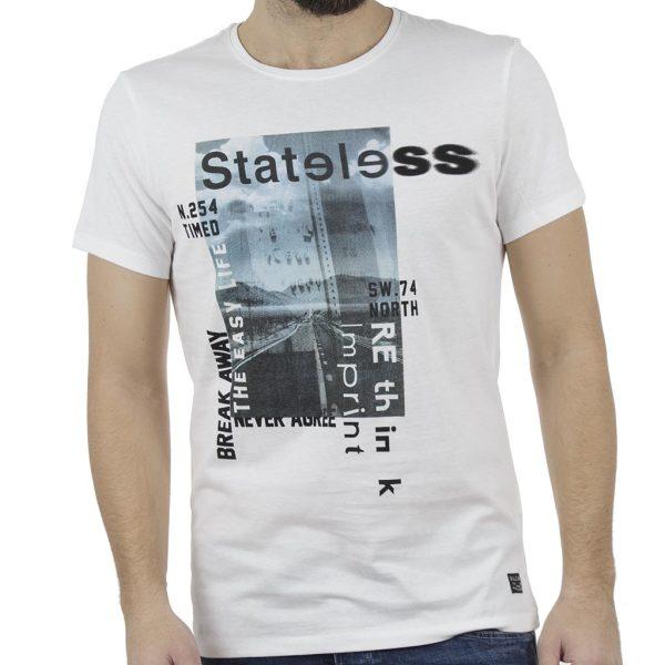 Κοντομάνικη Μπλούζα T-Shirt BLEND 20707413 Λευκό