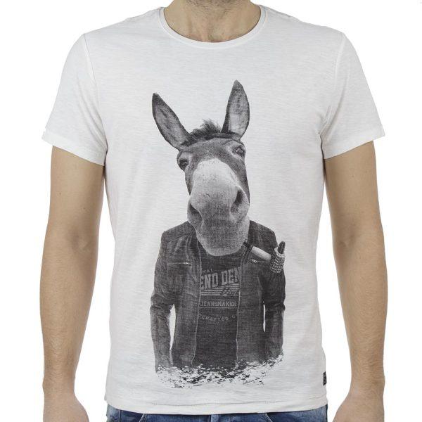 Κοντομάνικη Μπλούζα T-Shirt BLEND 20707446 Λευκό