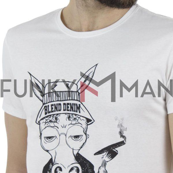 Κοντομάνικη Μπλούζα T-Shirt BLEND 20707447 Λευκό