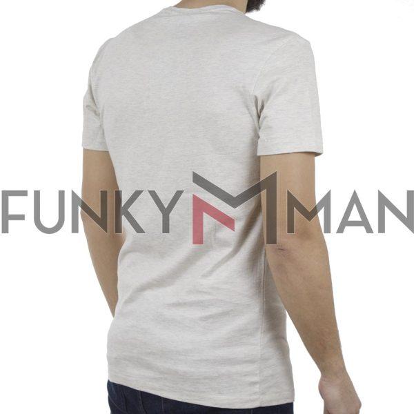 Κοντομάνικη Μπλούζα T-Shirt BLEND 20707449 Εκρού