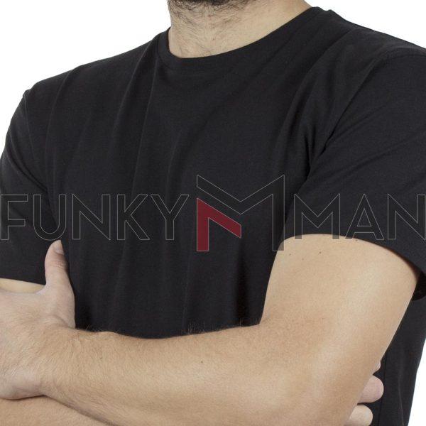 Κοντομάνικο Μπλούζακι T-Shirt DOUBLE TS-83 Μαύρο