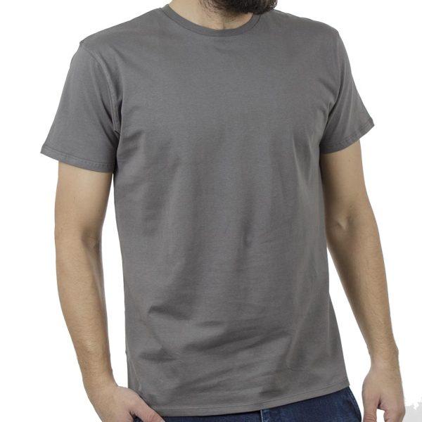 Κοντομάνικο Μπλούζακι T-Shirt DOUBLE TS-83 Γκρι