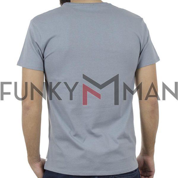 Κοντομάνικο Μπλούζακι Crew Neck T-Shirt DOUBLE TS-92 Σιέλ